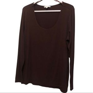 Alfred Sung Long Sleeve Tee Comfy Casual